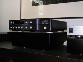 Mark Levinson No. 390S CD player on its Ohio Class isoBASE platform.